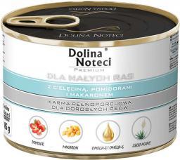 Dolina Noteci Premium dla małych ras z cielęciną pomidorami i makaronem 185 g