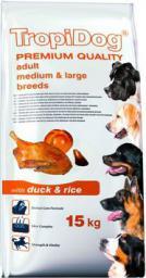 TropiDog Kaczka z ryżem TropiDog Premium Adult Medium & Large Breeds 15kg - 5900469570180