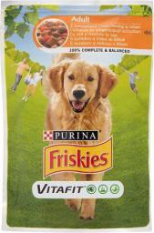 Purina Friskies Vitafit Adult z kurczakiem i marchewką w sosie 100g - 7613035339910