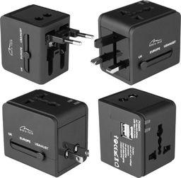 Media-Tech Adapter podróżny z wbudowaną ładowarką USB+5V (MT6208A)