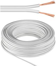 Przewód MicroConnect głośnikowy , 100m, 2x0.75, 100m, biały   (AUDSPEAKER2-100)