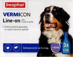 Beaphar Vermicon Dog L - Preparat na ektopasożyty dla psów >30 KG