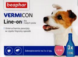Beaphar Vermicon Dog S - Preparat na ektopasożyty dla psów do 15kg