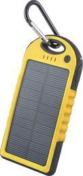 Forever Bateria uniwersalna zewnętrzna solarna Forever PB-016 5000 mAh żółta - GSM011226