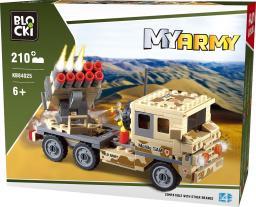 Blocki Wojsko - Ciężarówka z wyrzutnią rakiet 210el. (KB84025)