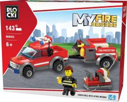 Blocki Blocki Straż pożarna - Samochód gaśniczy z przyczepą 143el. (KB8055)