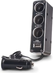 Ładowarka Forever Rozdzielacz gniazda samochodowego Forever 3w1 z gniazdem USB - GSM001530