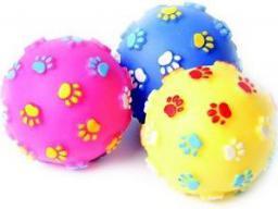 Dingo piłka z łapkami, winylowa,  7 cm kolory różne - 16655