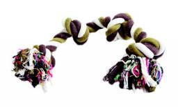 Dingo gryzak ze sznurka bawełnianego do czyszczenia zębów kolorowy, 2 węzły, waga 180 g - 17412