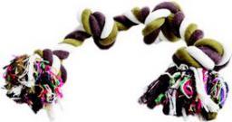 Dingo gryzak ze sznurka bawełnianego do czyszczenia zębów kolorowy, 2 węzły, waga 50 g - 17410