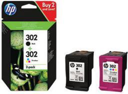 HP Toner Ink/302 Cart Combo 2-Pack (X4D37AE)