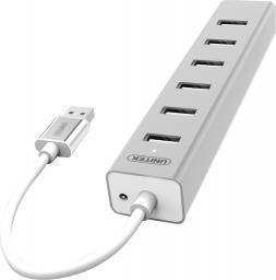 HUB USB Unitek Aluminiowy 7x USB 2.0 + zasilacz (Y-2183)