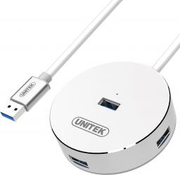 HUB USB Unitek Aluminiowy 4x USB 3.0 (Y-3197WH)