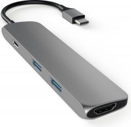 Stacja/replikator Satechi USB-C - 2x USB-A + USB-C + HDMI Szary (ST-CMAM)