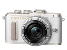 Aparat Olympus PEN E-PL8, Biały + 14-42mm (V205082WE000)