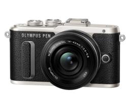 Aparat Olympus PEN E-PL8, Czarny + 14-42mm (V205082BE000)
