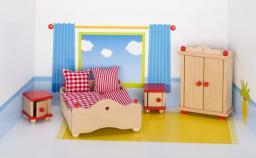 Goki Mebelki do sypialni z czerownymi akcentami, 5 elementów (51954)