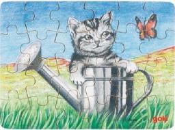 Goki 24 EL. Mini puzzle zwierzęta (57653)
