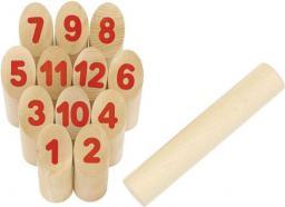 Goki KUBB z liczbami, gra Wikingów (56853)
