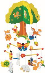 Goki Drewniana karuzela, domek na drzewie (52983)