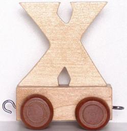 Small Foot Wagonik z literką X (7483)