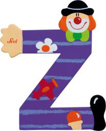Sevi Drewniana literka Z, Klaun (81762)