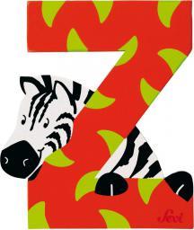 Sevi Drewniana literka Z, zwierzęta (81626)