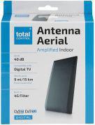 Antena RTV One For All wewnętrzna SV 1230 ze wzmacniaczem 40 dB, czarna / ONE FOR ALL (SV1230)