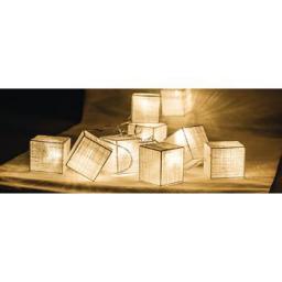 Lampki choinkowe HQ LED biały ciepły 10szt. (HQLEDSLSQRCOT)