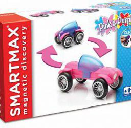 SmartMax Różowy & fioletowy - klocki magnetyczne (217971
