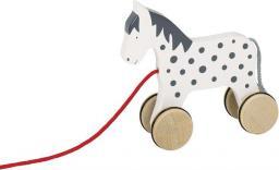 Goki Drewniana zabawka do ciągnięcia na sznurku, koń Alvah (54963)