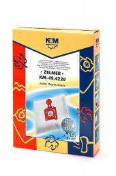 Worek do odkurzacza Zelmer czerwony KM-49.4220 4W+1F. Z