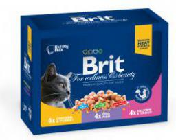 Brit Premium Cat Pouches Family Plate Poultry & Fish 12x100g