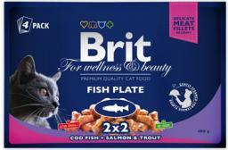 Brit Premium Cat Pouches Fish Plate 4x100g