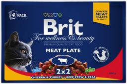 Brit Premium Cat Pouches Meat Plate 4x100g