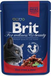 Brit Premium Cat Pouches with Beef Stew & Peas 100g