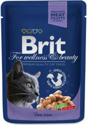 Brit Premium Cat Pouches with Cod Fish 100g