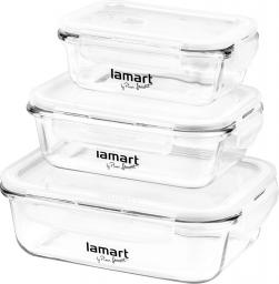 Lamart Zestaw szklanych pojemników na żywność 3 szt. (LT6011)
