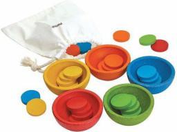 Plan Toys Sortuj i licz kolorowe żetony (221027)