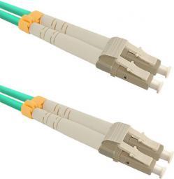 Qoltec Optic Patchcord LC/UPC - LC/UPC MM 50/125 OM3 15m (54081)