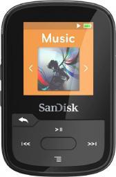 Odtwarzacz MP3 SanDisk SANSA Clip Sport Plus 16GB, czarny (SDMX28-016G-G46K)