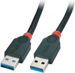 Kabel USB LINDY USB-A - USB-A 2m Czarny (41822)
