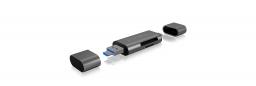 Czytnik Icy Box Zewnętrzny MicroSD/SDz USB 2.0 Type-C / A / MicroUSB - IB-CR200-C