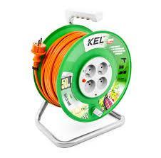 Kabel zasilający Plastrol Przedłużacz bębnowy Standard Line 4x2p+Z 16A 3680W 40m pomarańczowy KEL