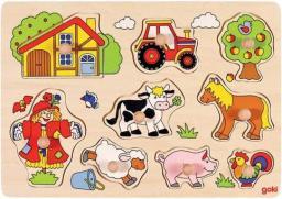 Goki Puzzle z uchwytami Farma (221592)