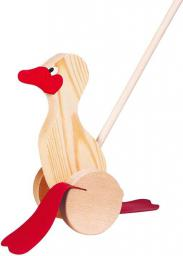 Goki Drewniana zabawka do pchania, kaczka (WP004)