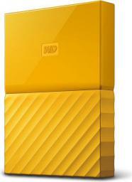 Dysk zewnętrzny Western Digital HDD 1 TB Żółty (WDBYNN0010BYL-WESN)