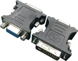 Adapter AV Gembird DVI - VGA Czarny (A-DVI-VGA-BK)