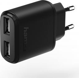 Ładowarka Hama 2x USB 2.4A Czarna (001736230000)