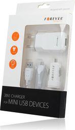 Ładowarka Forever USB 3w1 do iPhone 4/4s biała (GSM004322)